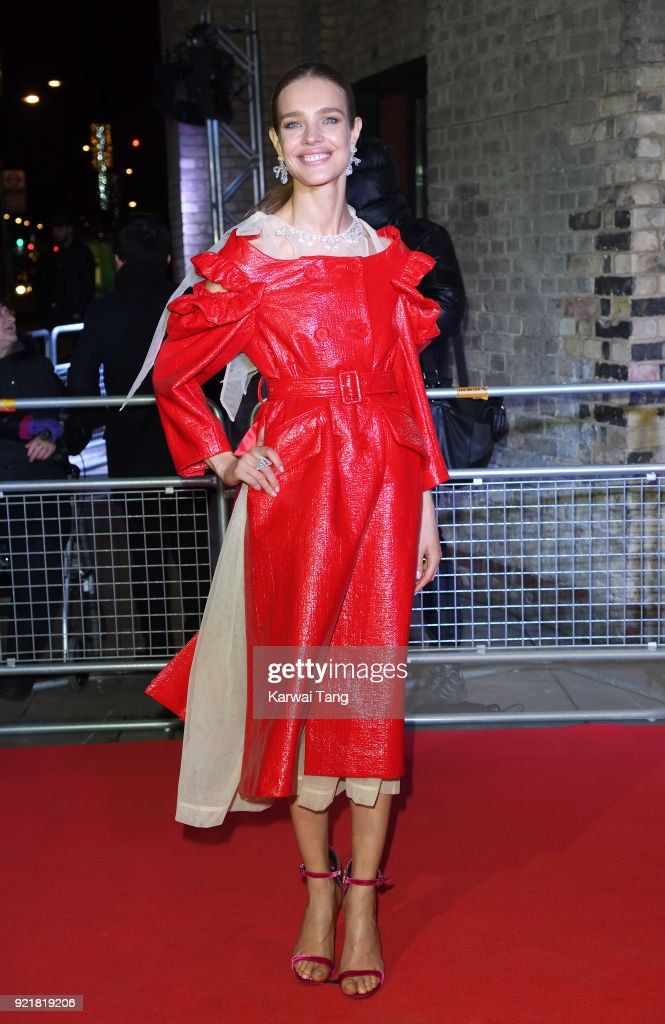 Natalia Vodianova attends the Naked Heart Foundation's Fabulous Fund Fair during London Fashion Week February 2018 at the Roundhouse on February 20, 2018 in London, England.