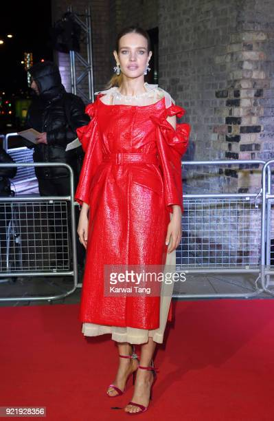 Natalia Vodianova attends the Naked Heart Foundation's Fabulous Fund Fair during London Fashion Week February 2018 at the Roundhouse on February 20...