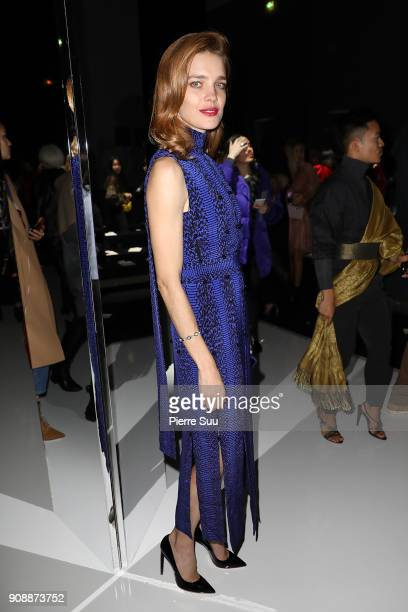 Natalia Vodianova attends the Ralph Russo Haute Couture Spring Summer 2018 show as part of Paris Fashion Week on January 22 2018 in Paris France