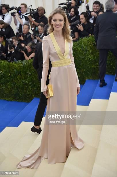 Natalia Vodianova attends the 'Rei Kawakubo/Comme des Garcons Art Of The InBetween' Costume Institute Gala at Metropolitan Museum of Art on May 1...
