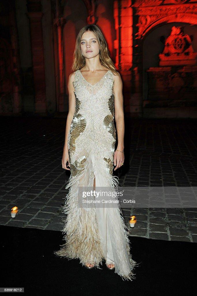 Natalia Vodianova attends the Roberto Cavalli Celebrate 40 Party at 'Les Beaux-Arts' in Paris.