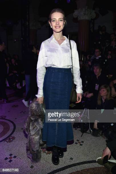 Natalia Vodianova attends the Stella McCartney show as part of the Paris Fashion Week Womenswear Fall/Winter 2017/2018 on March 6 2017 in Paris France