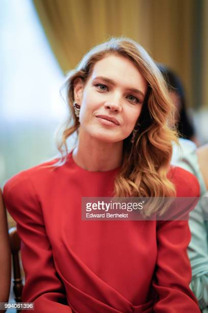 Natalia Vodianova attends the Ulyana Sergeenko Haute Couture Fall Winter 2018/2019 show as part of Paris Fashion Week on July 3 2018 in Paris France