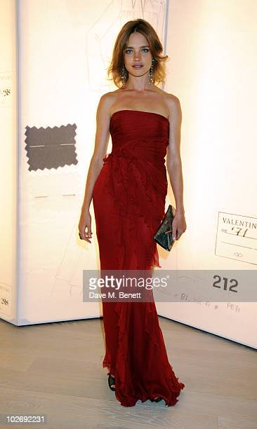 Natalia Vodianova attends the Valentino Garavani Archives Dinner Party on July 7 2010 in Versailles France