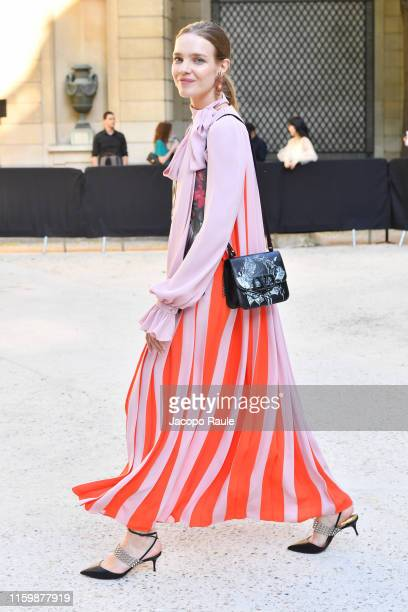 Natalia Vodianova attends the Valentino Haute Couture Fall/Winter 2019 2020 show as part of Paris Fashion Week on July 03 2019 in Paris France