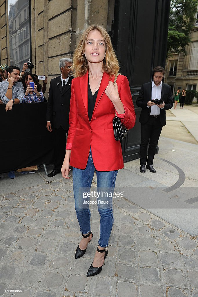 Natalia Vodianova attends the Valentino show as part of Paris Fashion Week Haute-Couture Fall/Winter 2013-2014 at Hotel Salomon de Rothschild on July 3, 2013 in Paris, France.