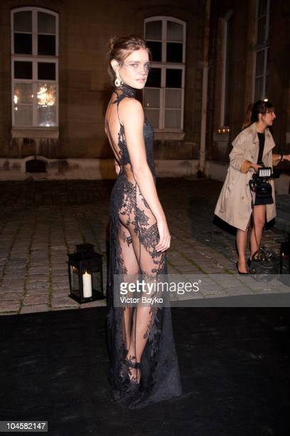 Natalia Vodianova attends the Vogue 90th Anniversary Party as part of Ready to Wear Spring/Summer 2011 Paris Fashion Week at Hotel Pozzo di Borgo on...