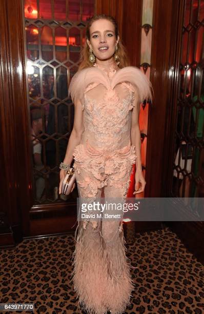Natalia Vodianova attends The Warner Music Ciroc Brit Awards After Party on February 22 2017 in London England