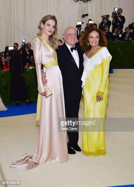 Natalia Vodianova Barry Diller and Diane von Furstenberg arrives at 'Rei Kawakubo/Comme des Garcons Art Of The InBetween' Costume Institute Gala at...