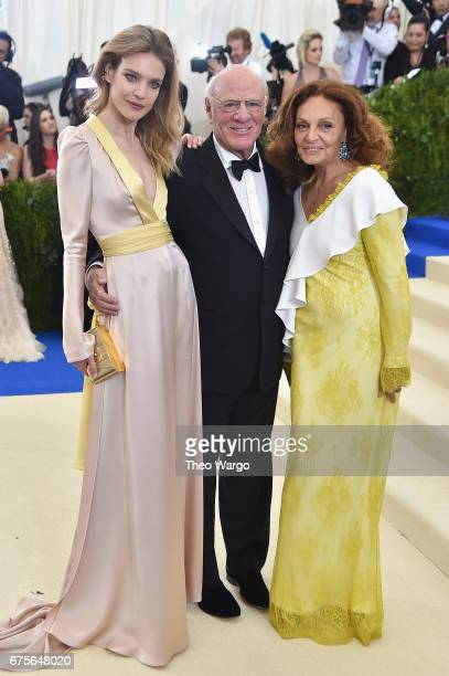 Natalia Vodianova Barry Diller and Diane Von Furstenberg attend the 'Rei Kawakubo/Comme des Garcons Art Of The InBetween' Costume Institute Gala at...