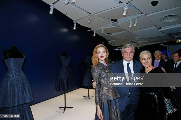 Natalia Vodianova CEO of Dior Sidney Toledano and Stylist of Dior Maria Grazia Chiuri attend Christian Dior celebrates 70 Years of Creation at the...