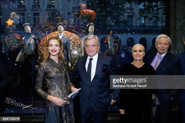 Natalia Vodianova CEO of Dior Sidney Toledano Stylist of Dior Maria Grazia Chiuri and Chairman of the Board of Galeries Lafayette Group Philippe...