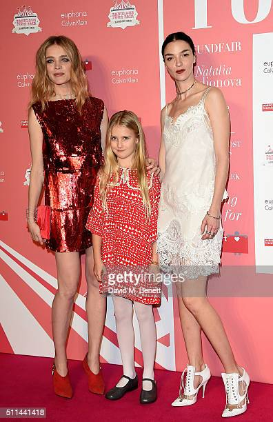 Natalia Vodianova daughter Neva Portman and Mariacarla Boscono at The Naked Heart Foundation's Fabulous Fund Fair in London at Old Billingsgate...