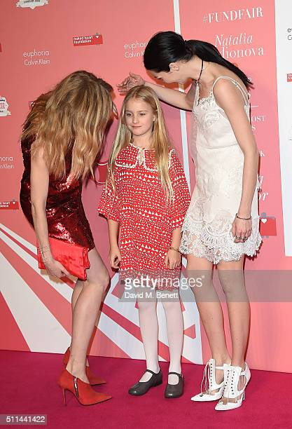 Natalia Vodianova, daughter Neva Portman and Mariacarla Boscono at The Naked Heart Foundation's Fabulous Fund Fair in London at Old Billingsgate...