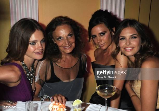 Natalia Vodianova Diane Von Furstenberg Victoria Beckham and Dasha Zhukova attend the Diane Von Furstenberg and Claridge's launch party at Claridge's...