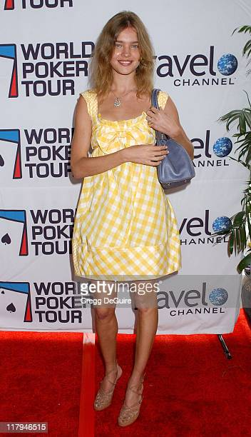 Natalia Vodianova during 2005 World Poker Tour Invitational Arrivals at Commerce Casino in City of Commerce California United States