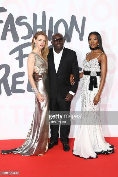 Natalia Vodianova Edward Enninful and Naomi Campbell attend Fashion for Relief Cannes 2018 during the 71st annual Cannes Film Festival at Aeroport...