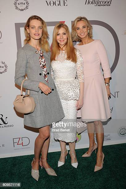 Natalia Vodianova Evie Evangelou and Princess Corinna zu SaynWittgenstein attend Fashion 4 Development's 6th Annual Official First Ladies Luncheon at...