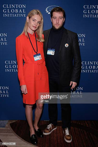 Natalia Vodianova CGI for launch of ELBI and Timon Afinsky CoFounder ELBI attend the CGI at the Opening Plenary Session The Future of Impact during...