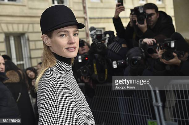 Natalia Vodianova is seen arriving at Dior Fashion show during Paris Fashion Week Haute Couture F/W 20172018 on January 23 2017 in Paris France