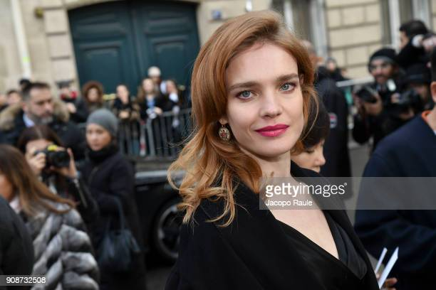 Natalia Vodianova is seen arriving at Dior Fashion show during Paris Fashion Week Menswear Fall Winter 2018/2019 on January 22 2018 in Paris France