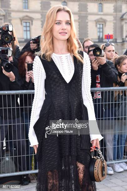 Natalia Vodianova is seen arriving at Louis Vuitton show during Paris Fashion Week Womenswear Spring/Summer 2018 on October 3 2017 in Paris France