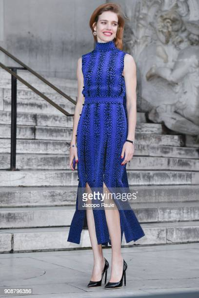 Natalia Vodianova is seen arriving at Ralph Russo show during Paris Fashion Week Haute Couture Spring/Summer 2018 on January 22 2018 in Paris France