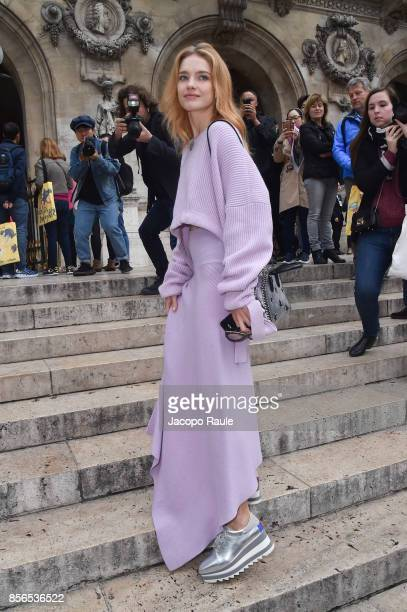 Natalia Vodianova is seen arriving at Stella McCartney show during Paris Fashion Week on October 2 2017 in Paris France