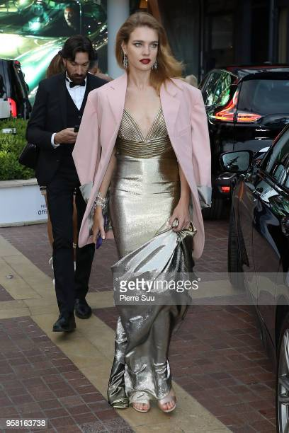 Natalia Vodianova is seen at 'Le Majestic' hotel during the 71st annual Cannes Film Festival at on May 13 2018 in Cannes France