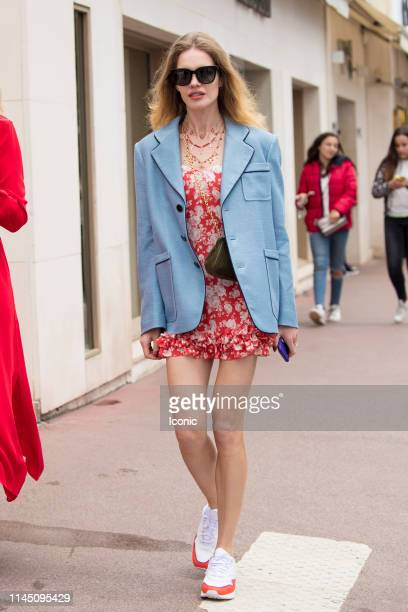 Natalia Vodianova is seen during the 72nd annual Cannes Film Festival on May 19 2019 in Cannes France
