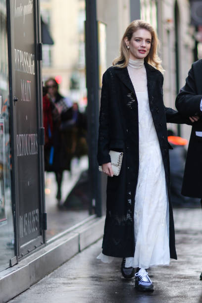 Natalia Vodianova Is Seen Outside The Valentino Show During Paris Fashion Week Womenswear Fall