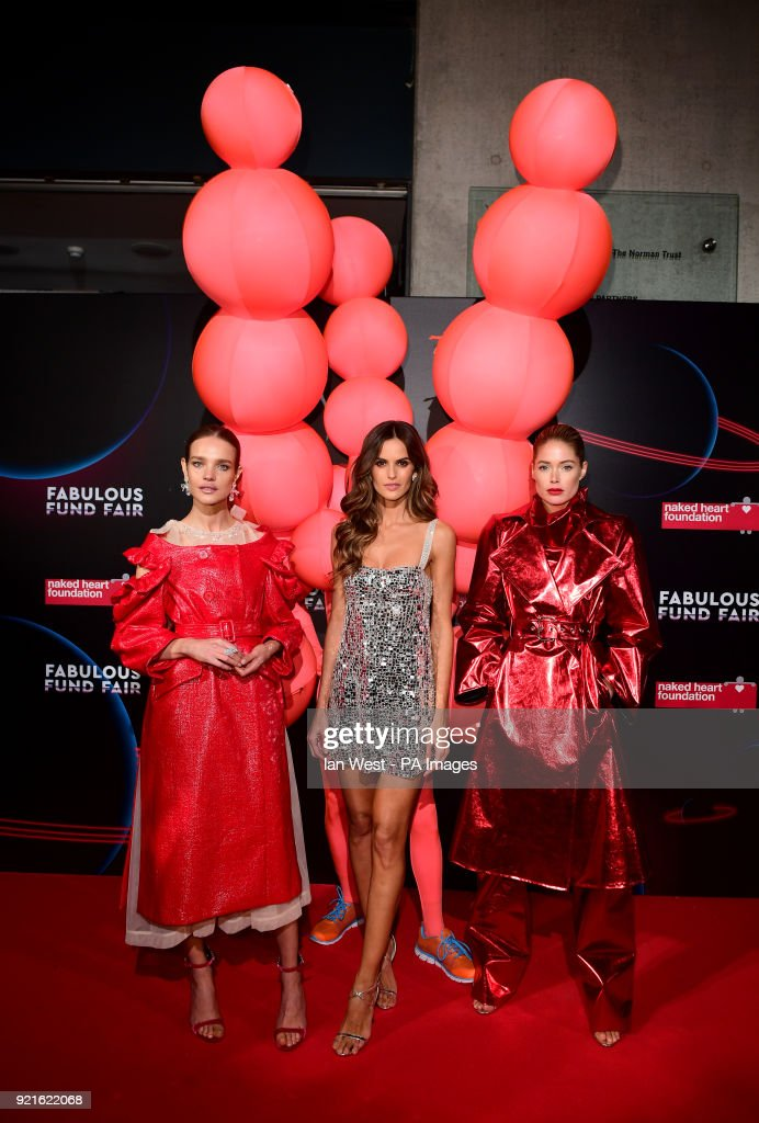 Natalia Vodianova, Izabel Goulart and Doutzen Kroes attending the Naked Heart Foundation Fabulous Fun dFair held at The Roundhouse in Chalk Farm, London.