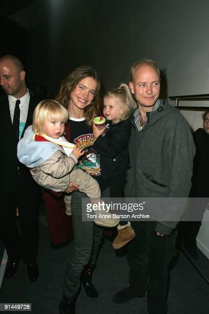 Natalia Vodianova Justin Portman and their children attend the Stella McCartney Pret a Porter show as part of the Paris Womenswear Fashion Week...