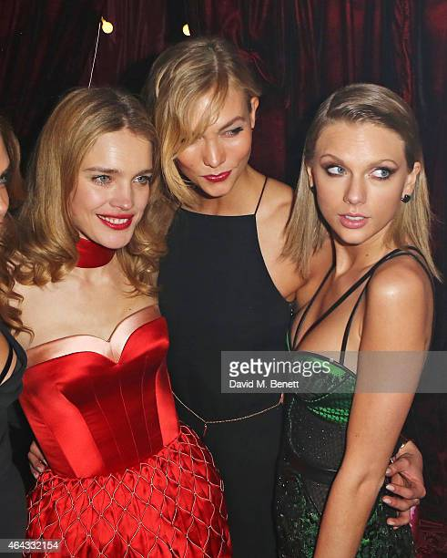 Natalia Vodianova Karlie Kloss and Taylor Swift attend the The World's First Fabulous Fund Fair hosted by Natalia Vodianova and Karlie Kloss in...