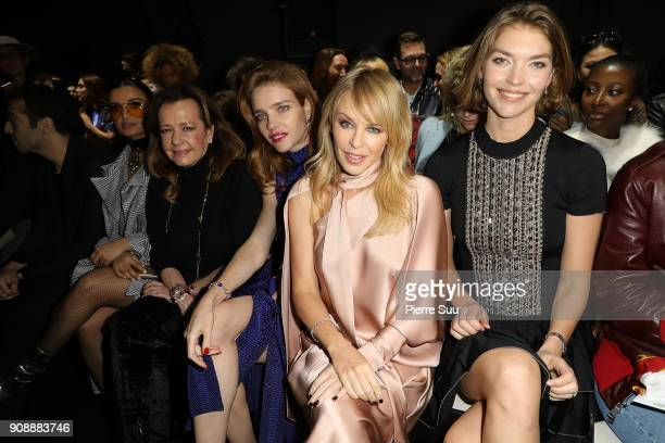 Natalia Vodianova Kylie Minogue and Arizona Muse attend the Ralph Russo Haute Couture Spring Summer 2018 show as part of Paris Fashion Week on...