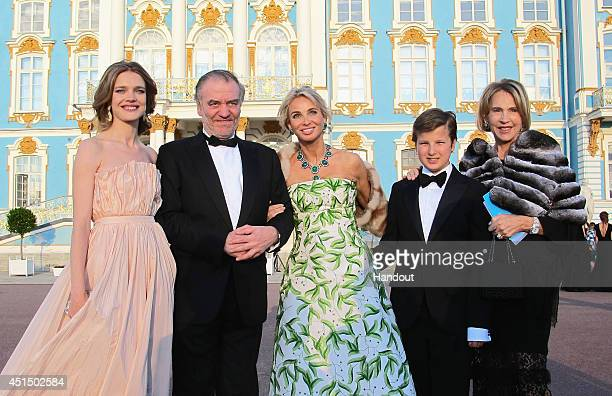 Natalia Vodianova, Maestro Gergiev, Corinna zu Sayn-Wittgenstein, Alexander zu Sayn-Wittgenstein and Luce Spencer-Churchill attend the White Nights...