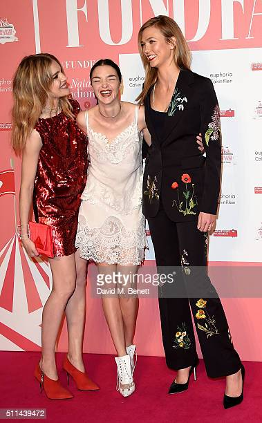 Natalia Vodianova, Mariacarla Boscono and Karlie Kloss at The Naked Heart Foundation's Fabulous Fund Fair in London at Old Billingsgate Market on...