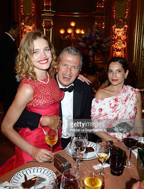 Natalia Vodianova Mario Testino and Astrid Munoz attend the dinner at the 'Love Ball' hosted by Natalia Vodianova in support of The Naked Heart...