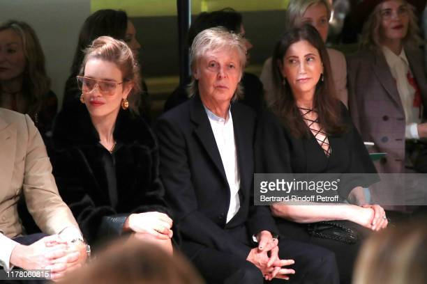 Natalia Vodianova Paul McCartney and his wife Nancy Shevell attend the Stella McCartney Womenswear Spring/Summer 2020 show as part of Paris Fashion...