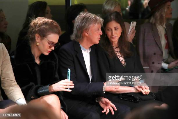 Natalia Vodianova, Paul McCartney and his wife Nancy Shevell attend the Stella McCartney Womenswear Spring/Summer 2020 show as part of Paris Fashion...