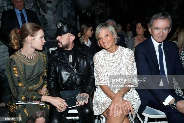 Natalia Vodianova Peter marino Helene Arnault and her husband Owner of LVMH Luxury Group Bernard Arnault attend the Christian Dior Haute Couture...