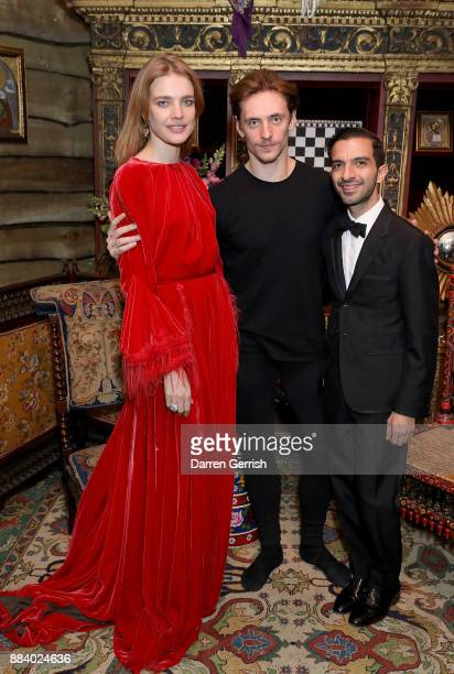 Natalia Vodianova Sergei Polunin and Imran Amed attend the gala dinner during #BoFVOICES on December 1 2017 in Oxfordshire England