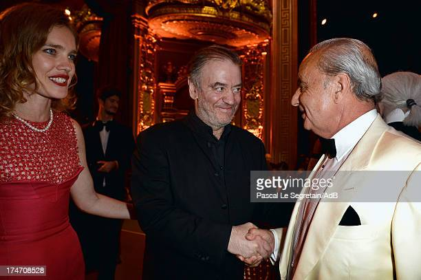 Natalia Vodianova Valery Gergiev and Samir Traboulsi attend the dinner at 'Love Ball' hosted by Natalia Vodianova in support of The Naked Heart...