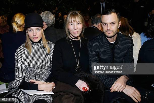 Natalia Vodianova Victoire de Castellane and Stylist Kris Van Assche attend the Christian Dior Haute Couture Spring Summer 2017 show as part of Paris...