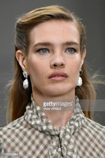 Natalia Vodianova walks the runway at the Tory Burch Ready to Wear Spring/Summer 2020 fashion show during New York Fashion Week on September 08, 2019...