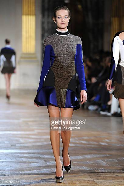 Natalia Vodianova walks the runway during the Stella McCartney ReadyToWear Fall/Winter 2012 show as part of Paris Fashion Week on March 5 2012 in...