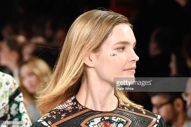 Natalia Vodianova walks the runway during the Stella McCartney show as part of the Paris Fashion Week Womenswear Fall/Winter 2019/2020 on March 04...