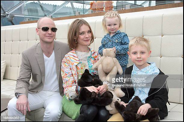 Natalia Vodianova with husband Mari Lord Justin Portman and their children Lucas and Neva at The Reopening Of Louis Vuitton Store In Moscow In...
