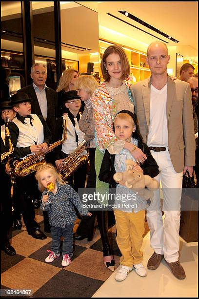 Natalia Vodianova with husbandc Lord Justin Portman and children Lucas and Neva at The Reopening Of Louis Vuitton Store In Moscow In Association With...