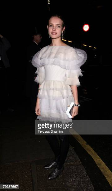 Natalia Vondiaanova arrives for the Channel-Pre Autumn/Winter Collection Show at Phillip De Pury and Company on December 06, 2007 in London, England.